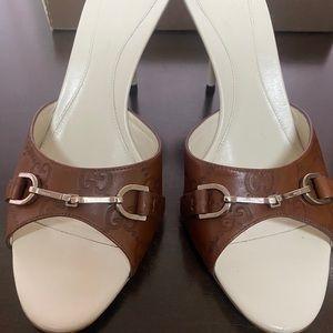 New Authentic Gucci Horsebit Guccisima heels 8.5